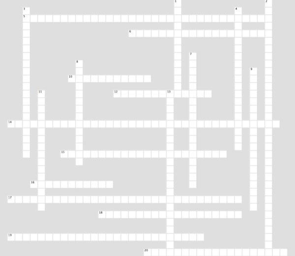 Commissioning Crossword Puzzle